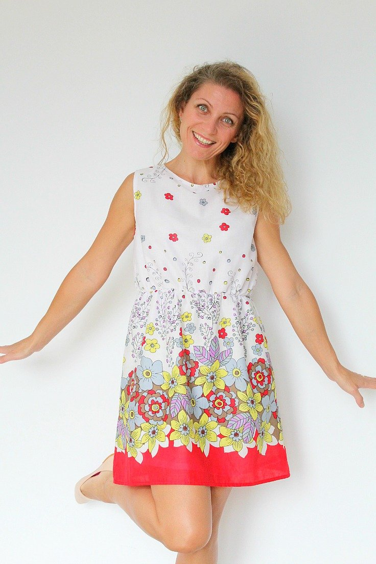 Summer Dress Pattern For Women With Gathered Waist