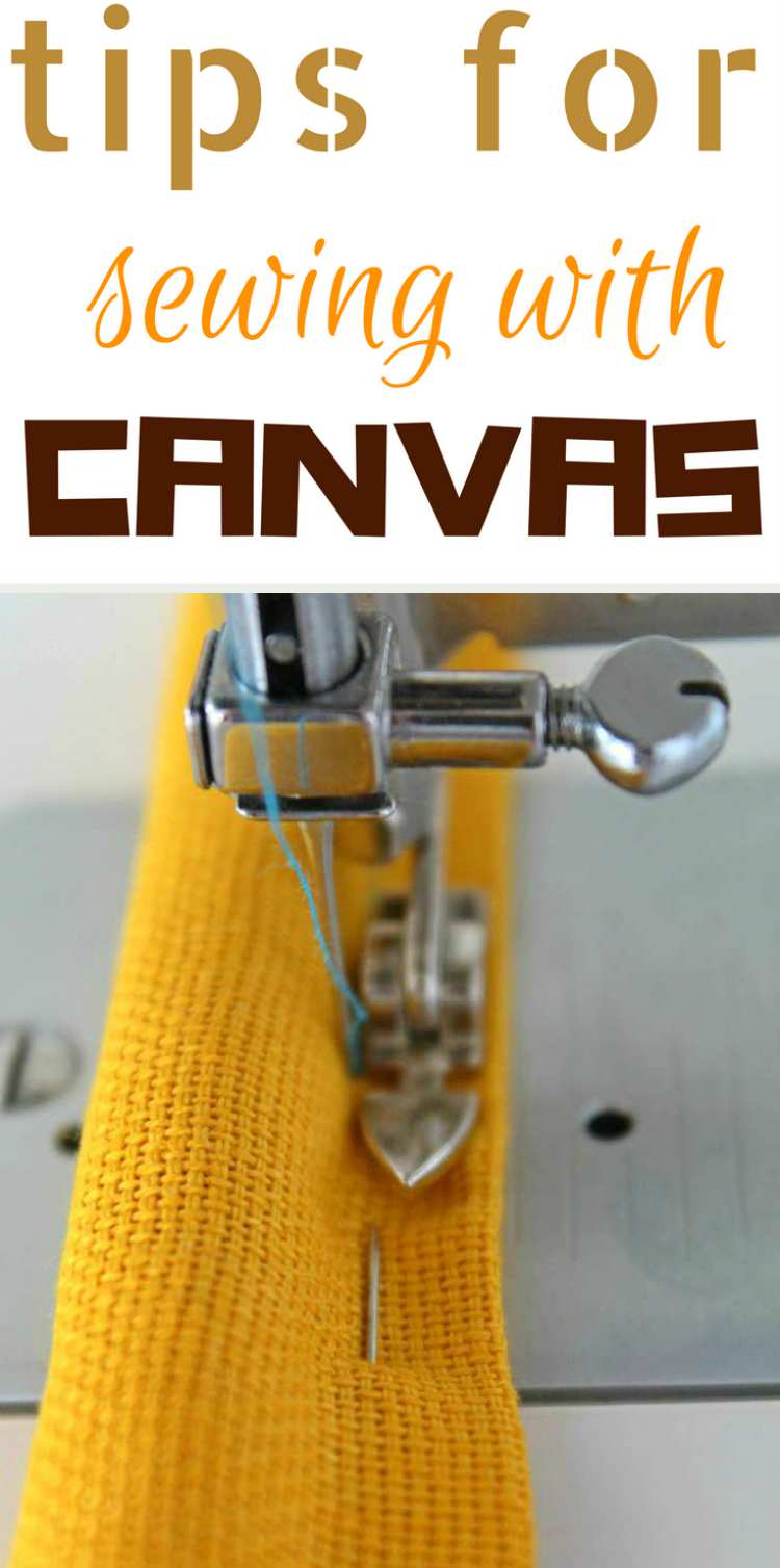 how to sew canvas