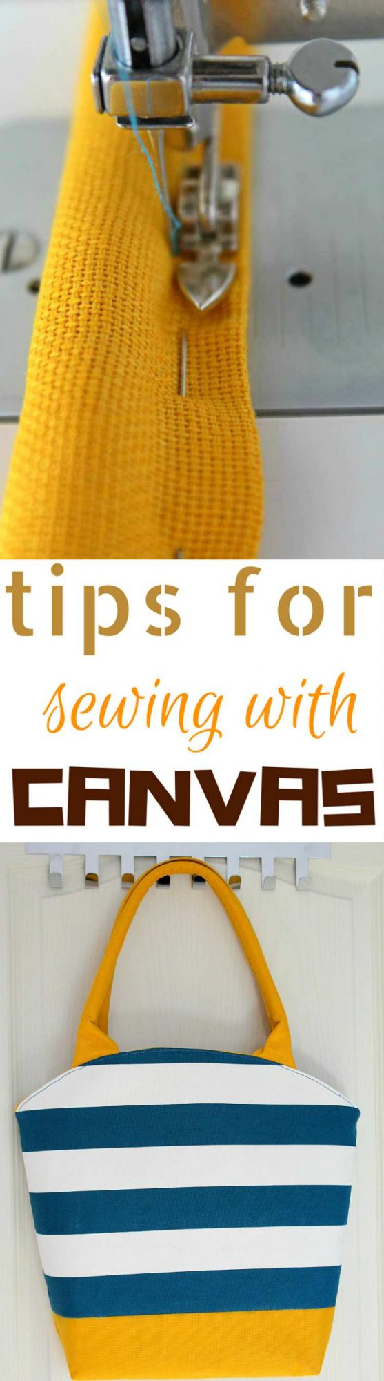 Tips for sewing with canvas