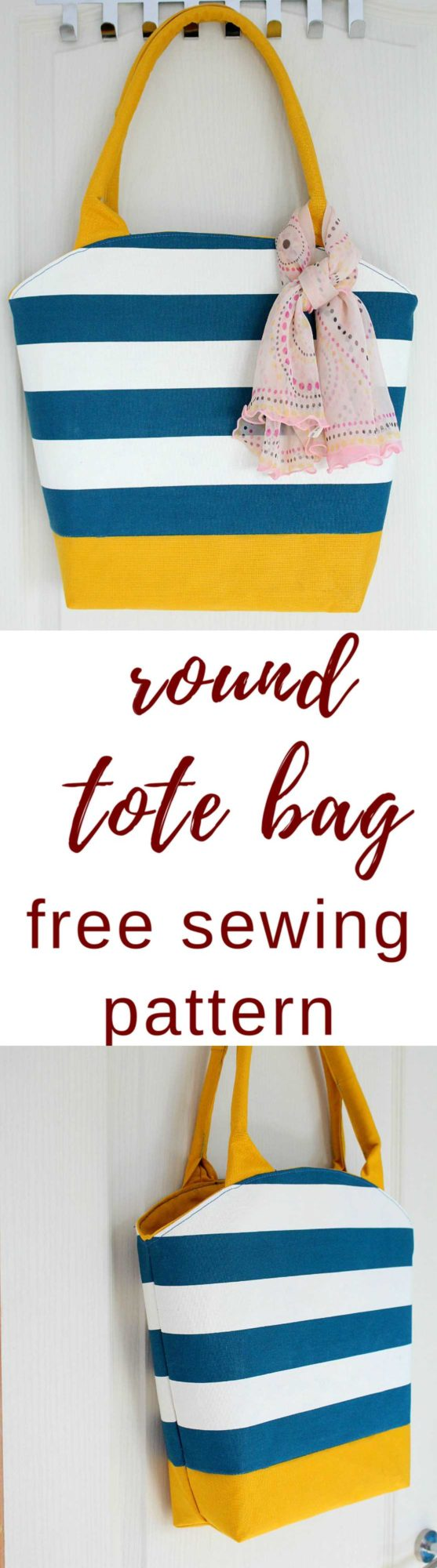 Round tote bag pattern