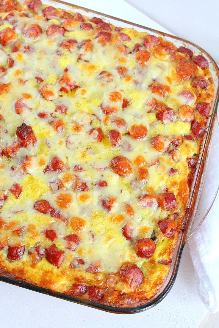 Sausage Bread Casserole With Cottage Cheese Eggs