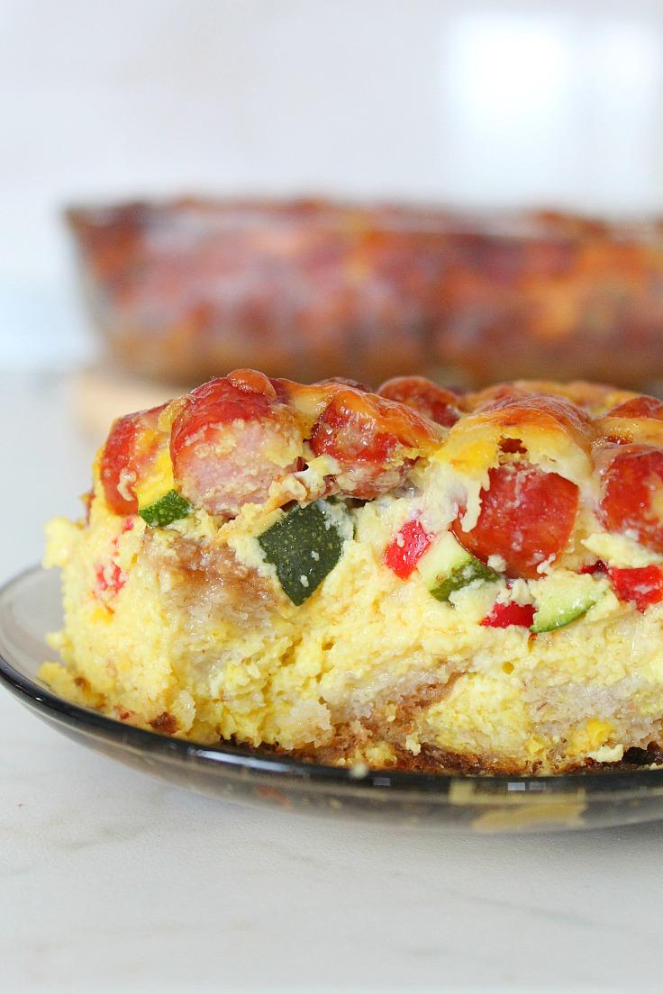 Sausage Bread Casserole