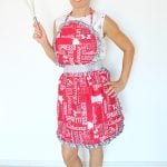 Sweet Vintage Ruffled Apron Free Sewing Pattern