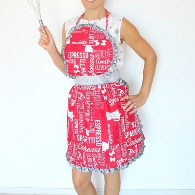 Sweet Vintage Ruffled Apron Sewing Pattern