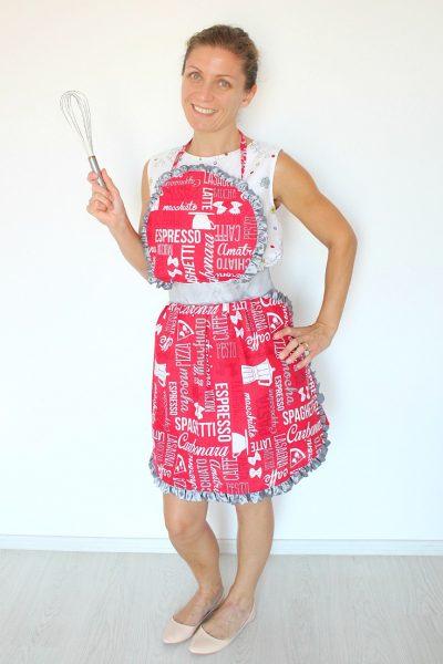 Sweet Vintage Ruffled Apron Free Sewing Pattern