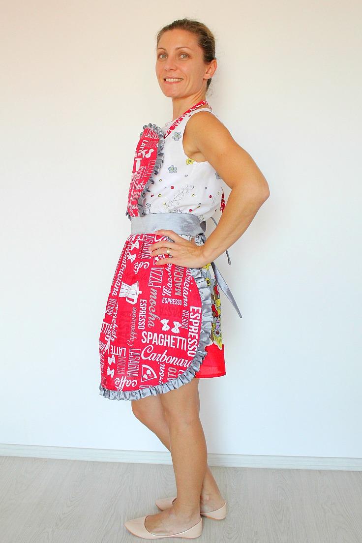 ruffled apron pattern
