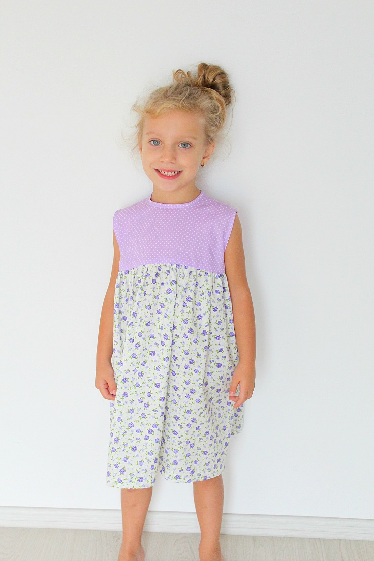 Gathered dress sewing pattern
