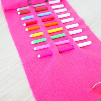 DIY no sew pencil roll
