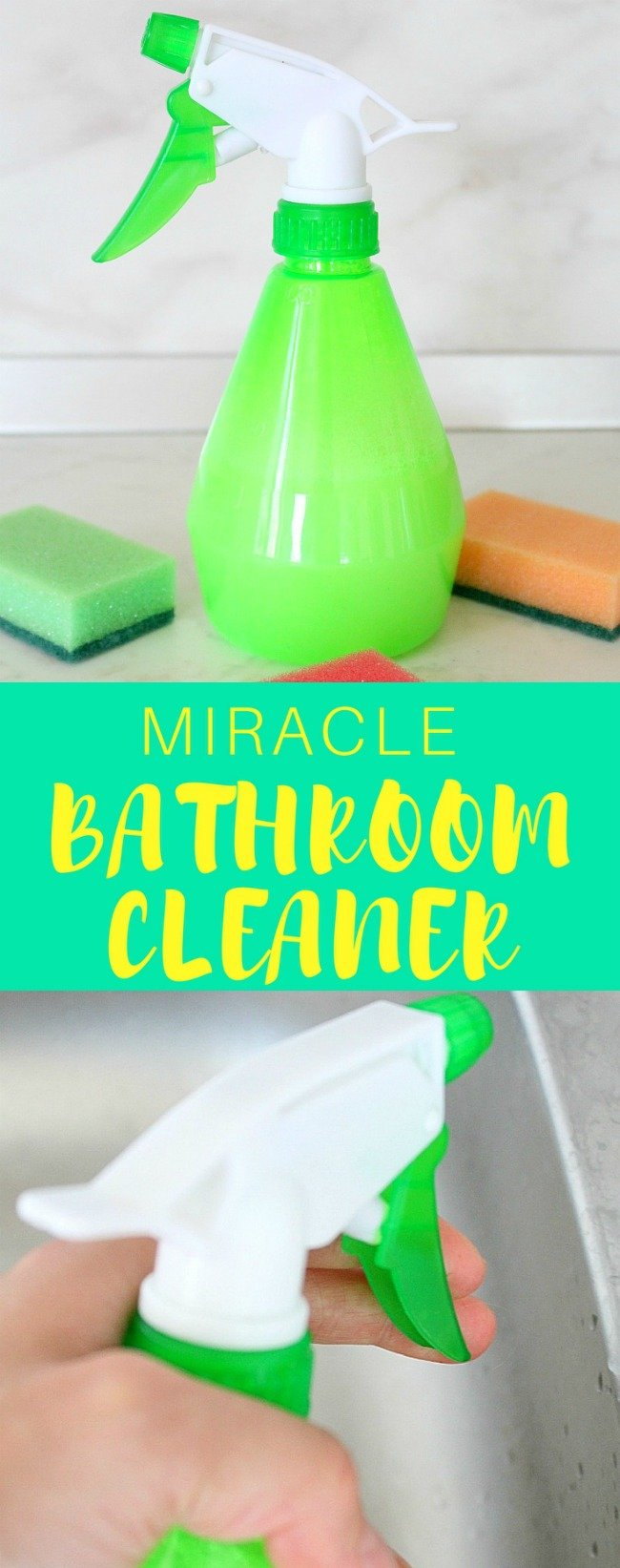 homemade miracle bathroom cleaner all in one