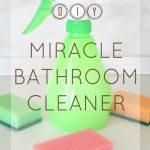 Homemade miracle bathroom cleaner