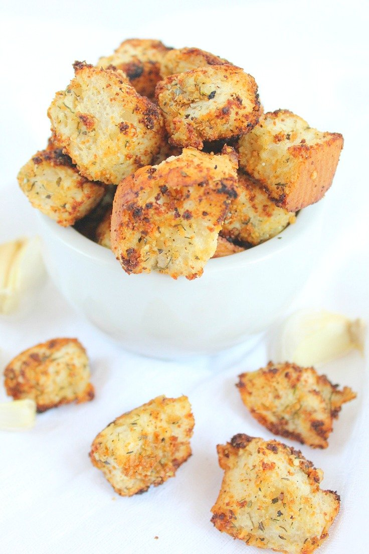 Garlic Herb Croutons