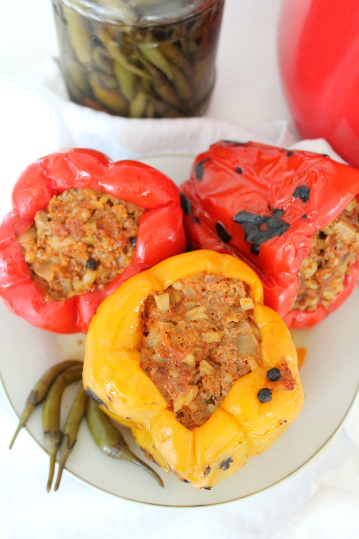 also like to slightly roast the peppers before filling them with ...