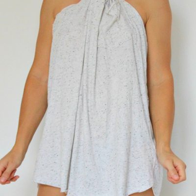 DIY No sew halter beach coverup tutorial