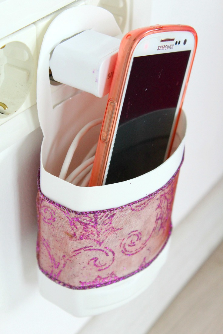 DIY Phone Charging Station, shared by the Seaman Mom at The Chicken Chick's Clever Chicks Blog Hop