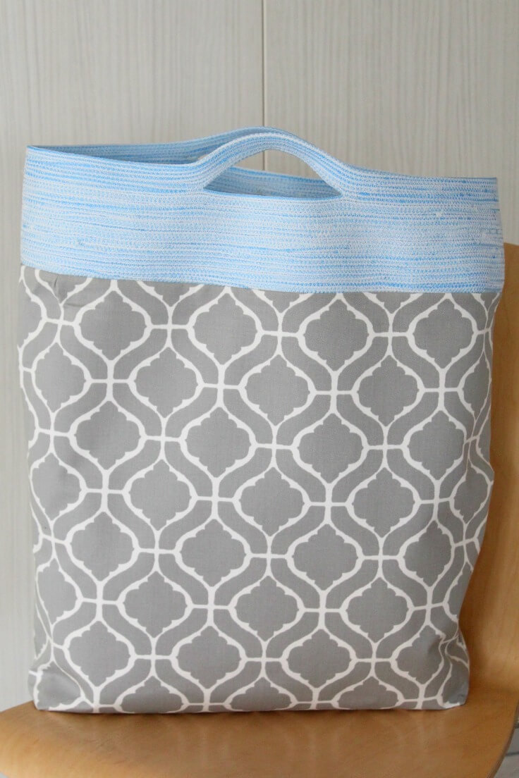 Rope Handle Tote Bag Easy Beginners Sewing Tutorial