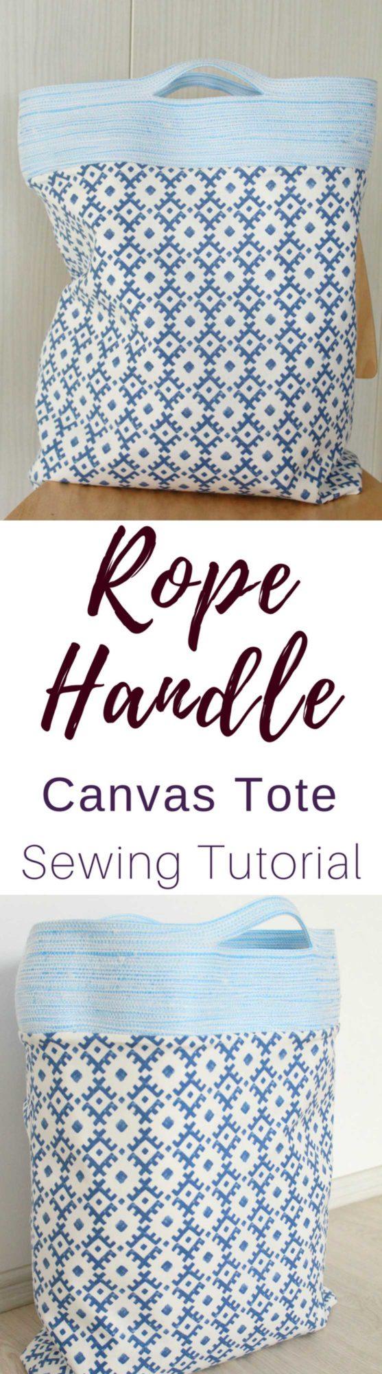 Rope handle tote bag