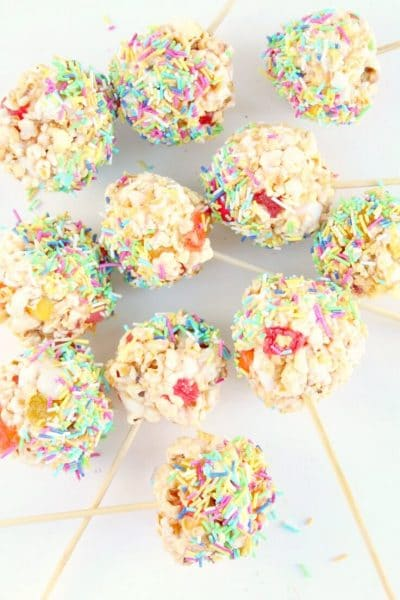 Sweet Sour and Salty Popcorn lollipops