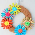 Paper tube flower wreath tutorial