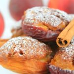 Peach nests with amaretti biscuits, honey and chocolate