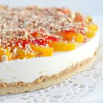 No Bake Peach Melba Cheesecake With Raspberry