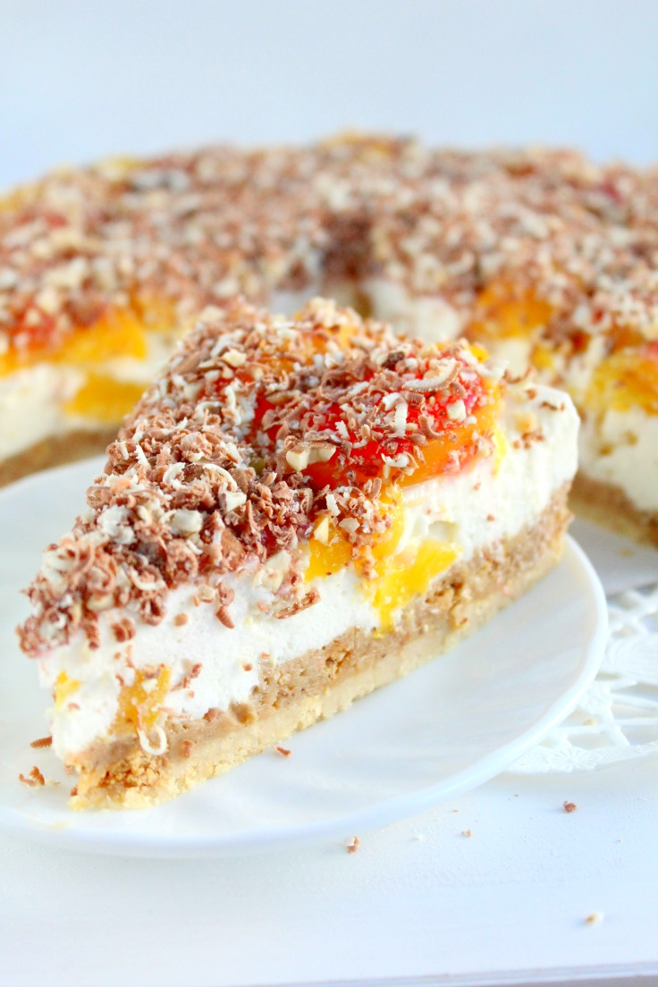 Peach Raspberry Cheesecake Recipe