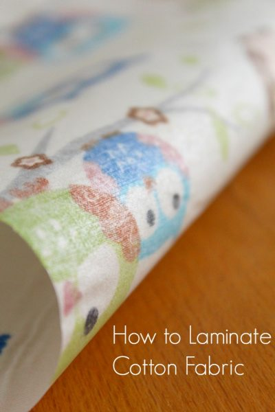 How To Laminate Cotton Fabric At Home