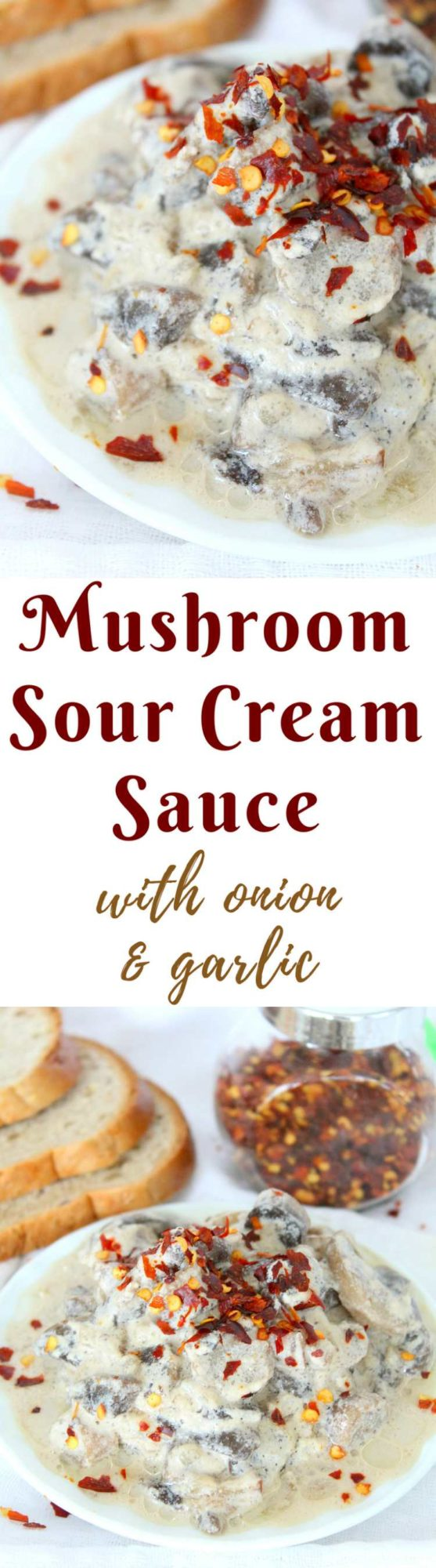 Mushroom sauce with sour cream
