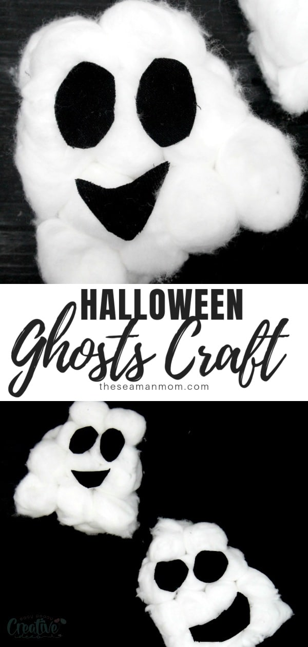 Quickly put together some spooky-cute ghosts with this crazy easy ghosts craft! These Halloween ghosts are too adorable and the perfect Halloween decoration to make with the kiddos! They'll absolutely adore these Halloween ghosts crafts! via @petroneagu