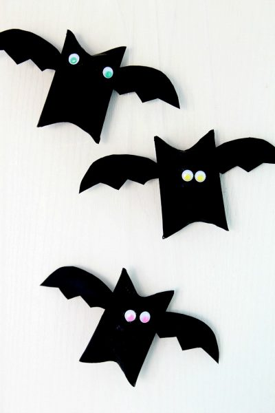 Halloween Bat Toilet Paper Roll Craft For Kids