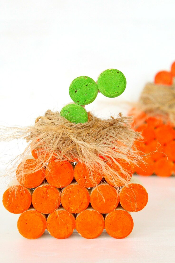 Wine Cork Pumpkin Tutorial
