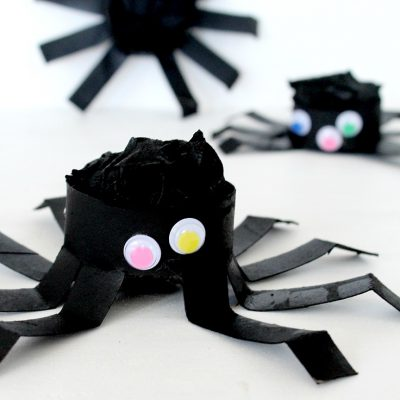 DIY Halloween Spider From Toilet Paper Tube