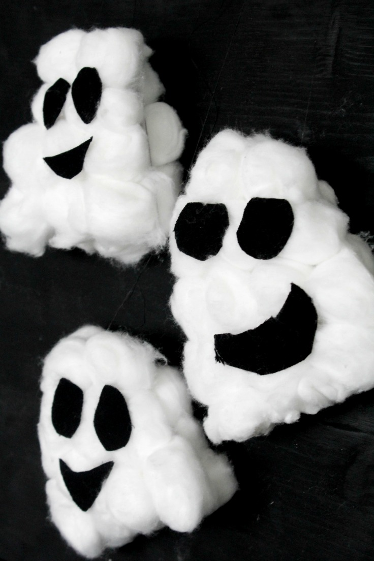 Cotton ball ghost craft