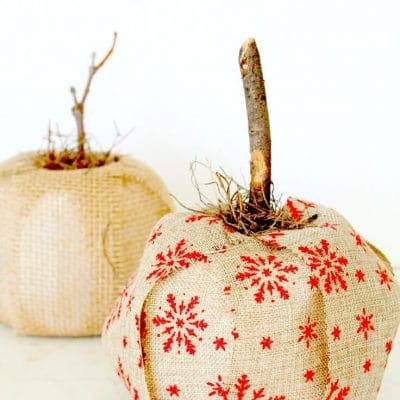 Burlap toilet paper pumpkin craft