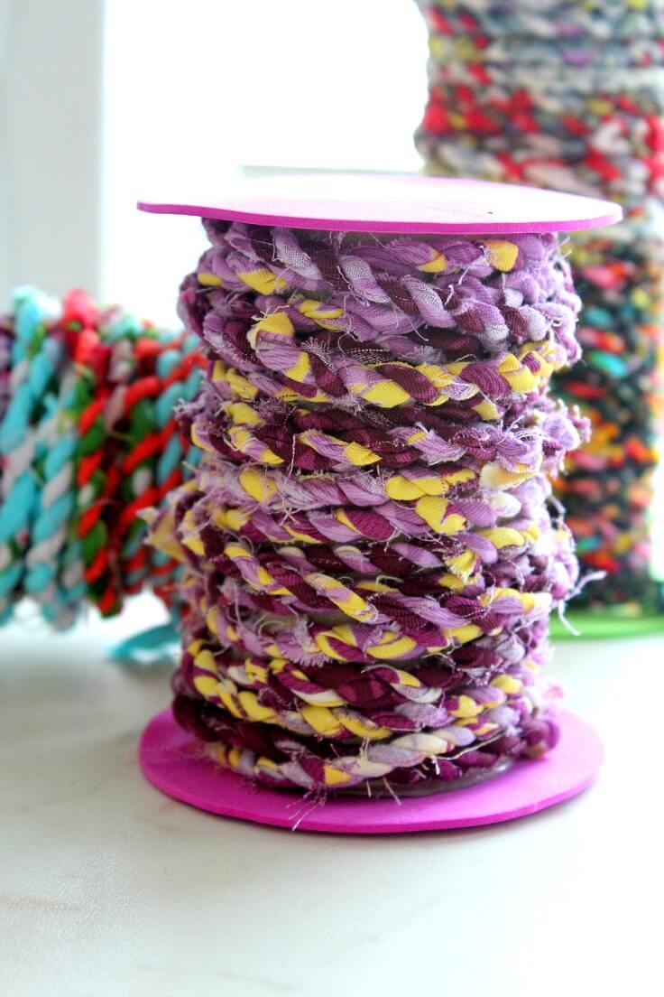 How to make fabric twine