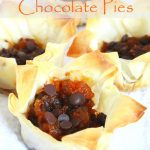 Individual Pumpkin Pies With Chocolate Chips In Filo Pastry Cups