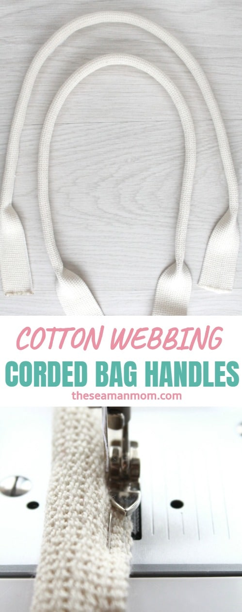Cotton webbing bag handles