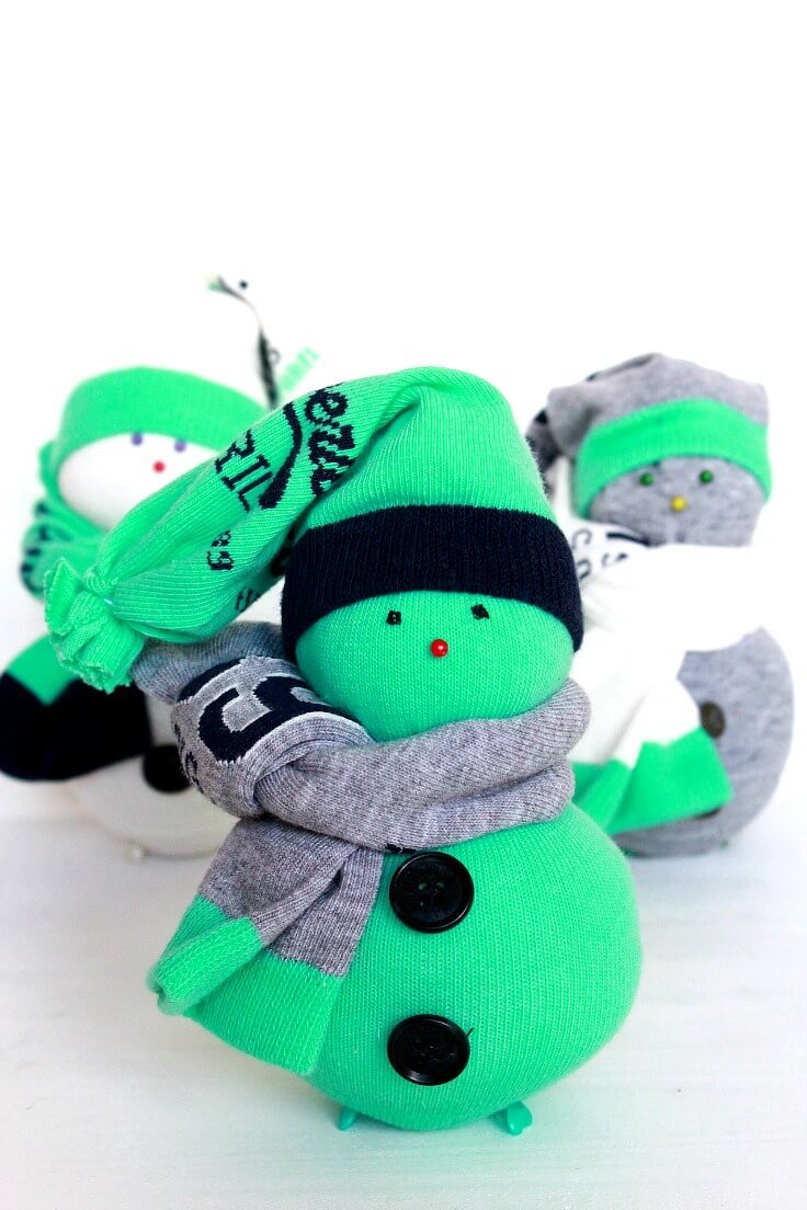 snowman sock craft