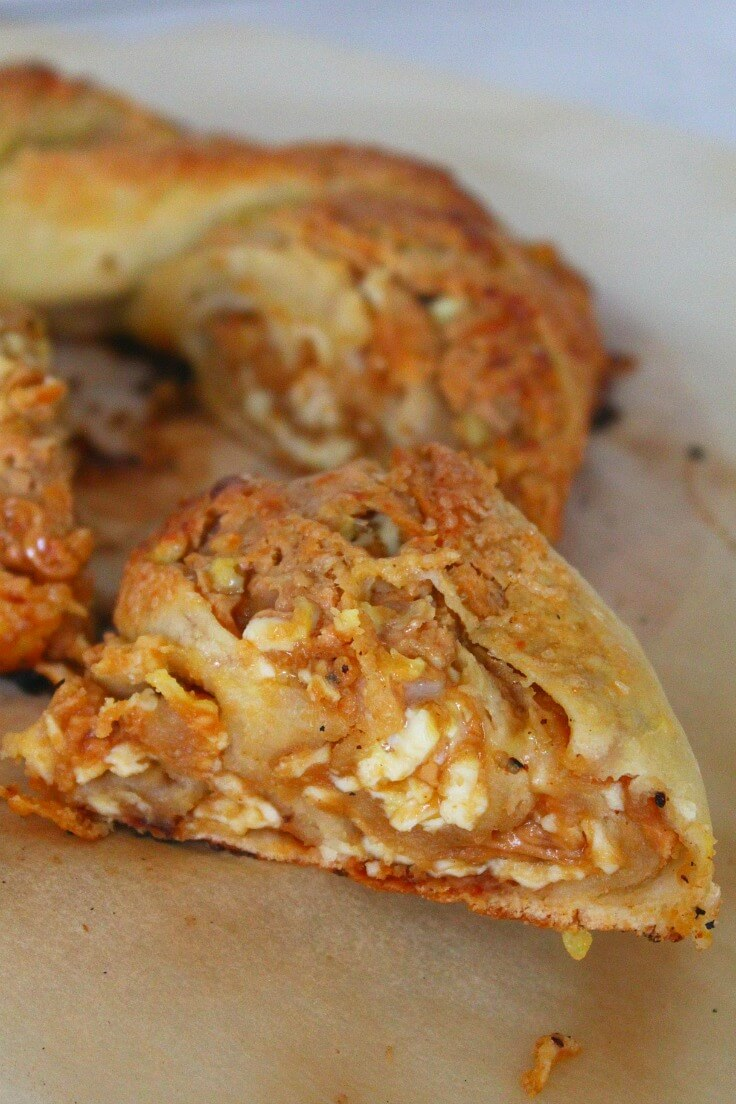 Peanut Butter Goat Cheese Crescent Ring