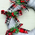 Scarf Christmas Wreath Tutorial