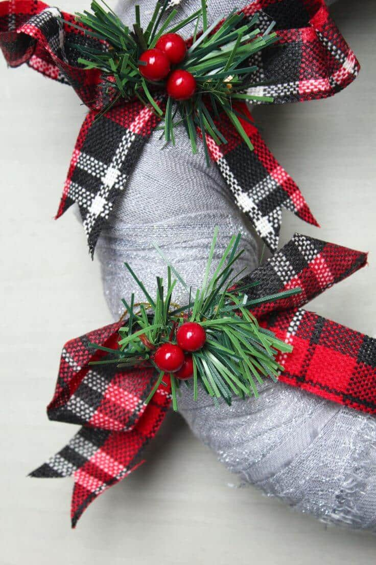 Scarf Christmas Wreath