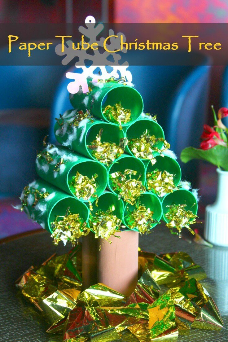 Paper Tube Christmas Tree