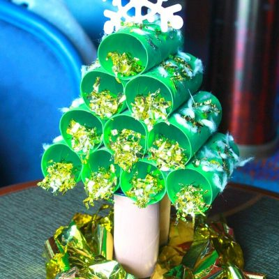 Paper Tube Christmas Tree Tutorial