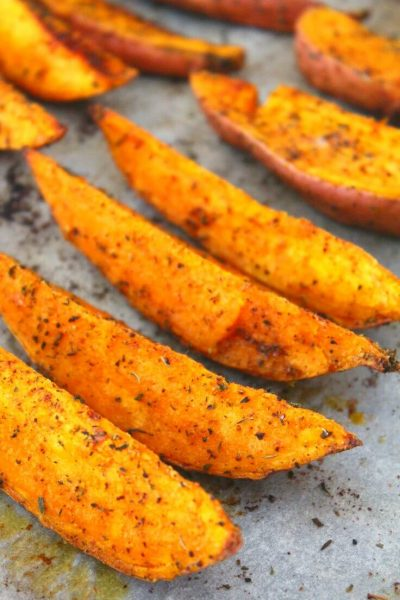 Spiced Herb Roasted Sweet Potato Wedges