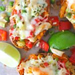 Twice Baked Chicken vegetables sweet potatoes