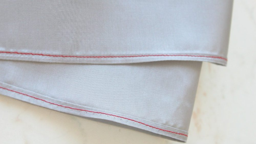 Hemming sheer fabric