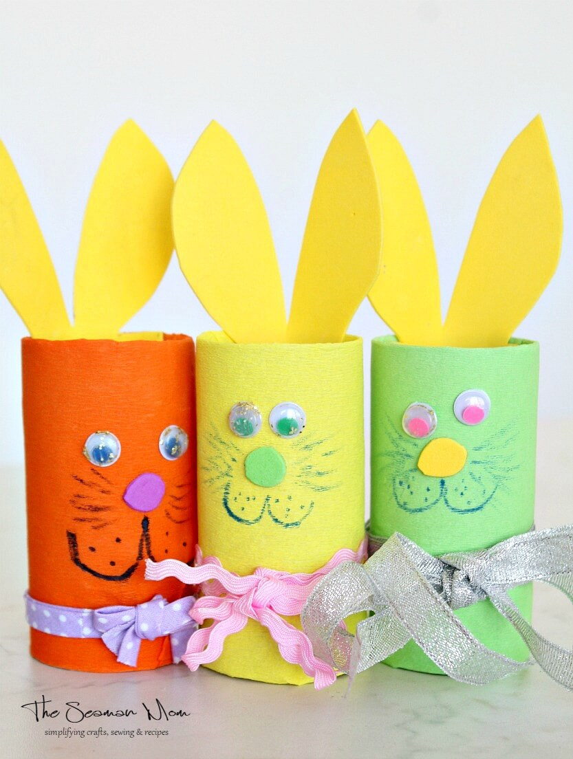 Easter Bunnies From Paper Tube