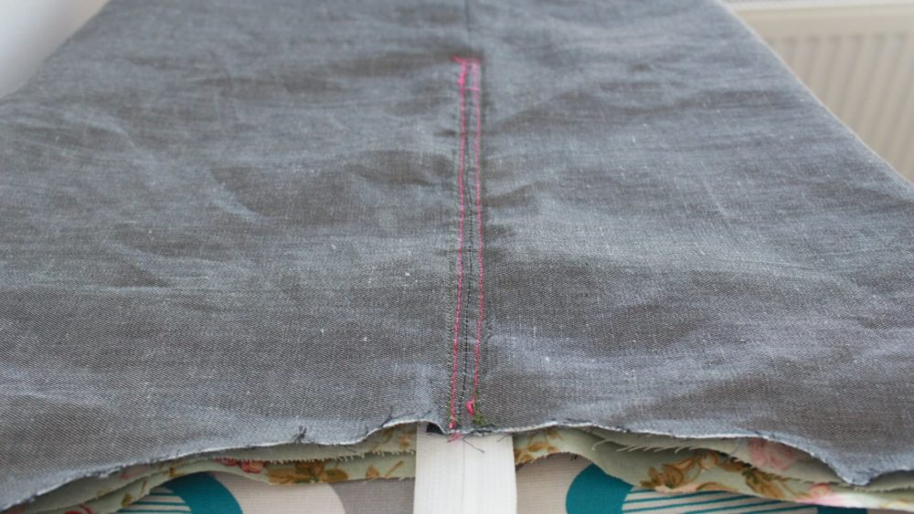 How to line a skirt with a zipper