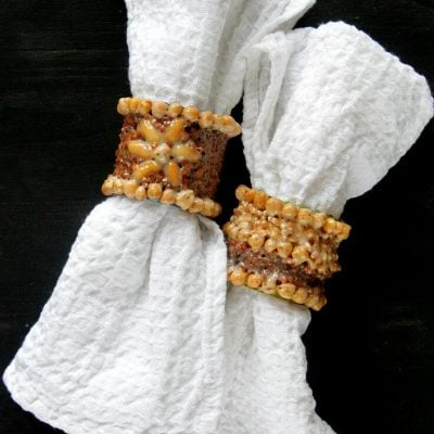 Easy DIY Paper Tube Napkin Ring