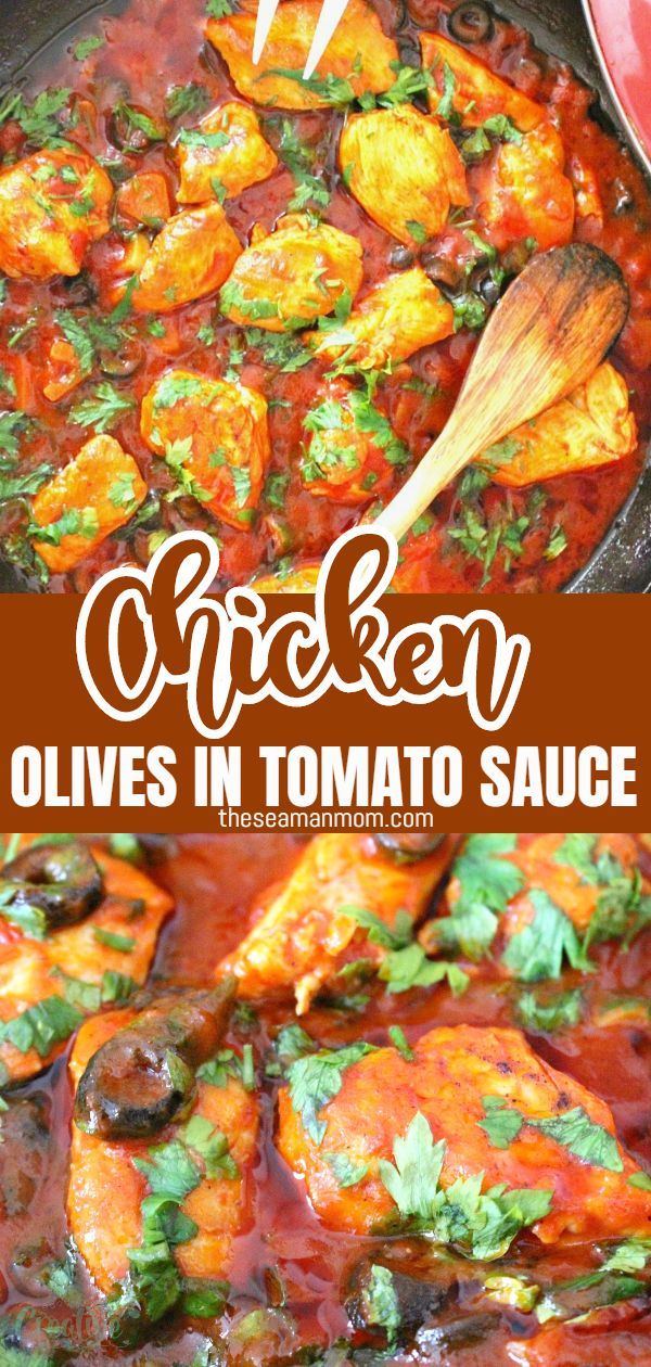 Chicken olives in tomato sauce