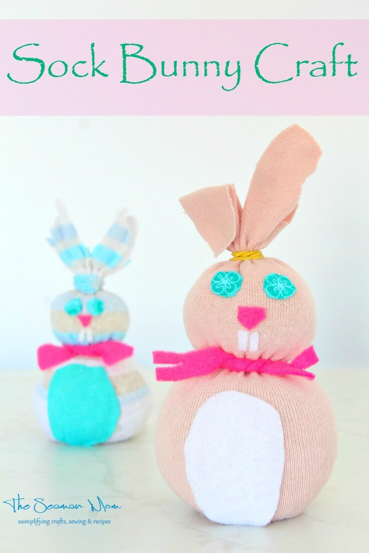 how to make a sock bunny youtube